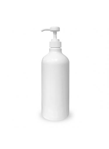 Dávkovač: plastová lahev bílá s pumpičkou 1000 ml