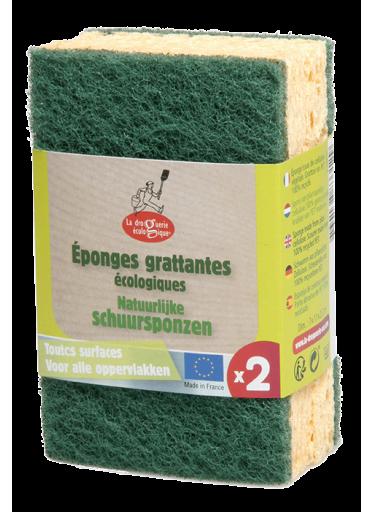 Ecodis Sada houbiček na nádobí (2 ks) - z rostlinné celulózy a recykl. pet
