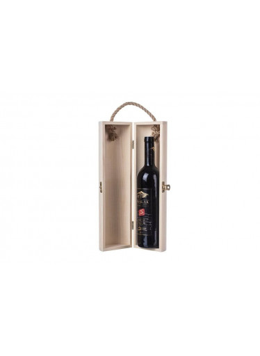 ČistéDřevo Dřevěná truhla na víno válec