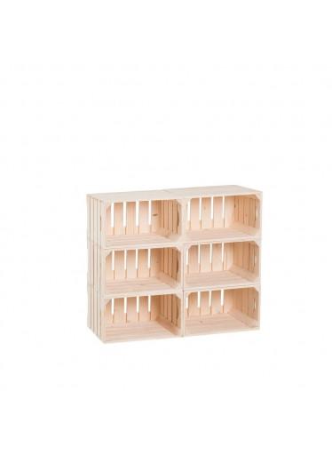 ČistéDřevo Dřevěné bedýnky knihovna 66 x 80 x 30 cm