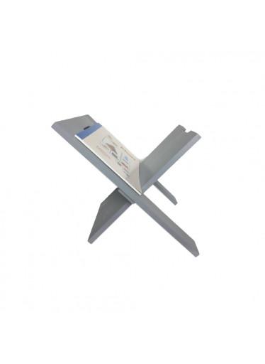 ČistéDřevo Dřevěný stojan na noviny - šedý