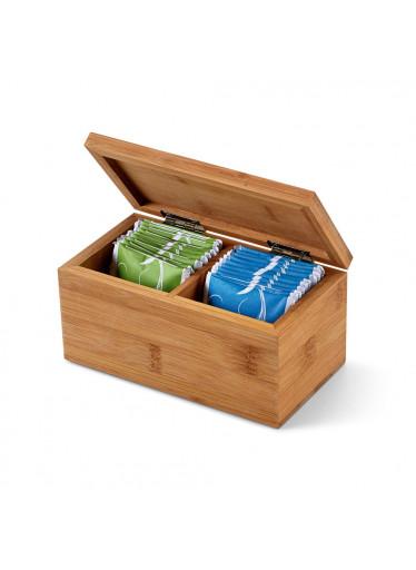 ČistéDřevo Bambusová krabička s azorským čajem (2 přihrádky)