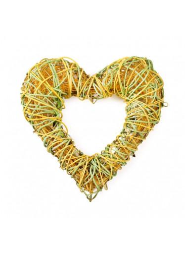 ČistéDřevo Ratanové dekorační srdce