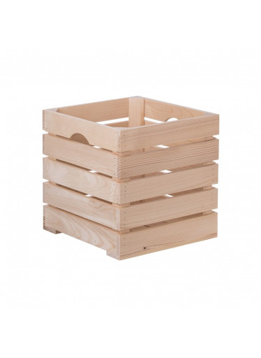 ČistéDřevo Dřevěná bedýnka 30 x 30 x 30cm