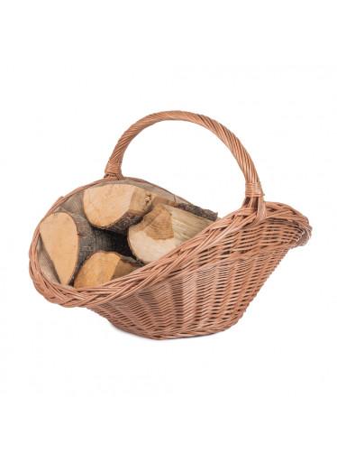 ČistéDřevo Proutěný koš na dřevo přírodní