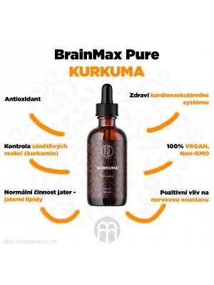 BrainMax Pure Kurkuma tinktura, 100 ml