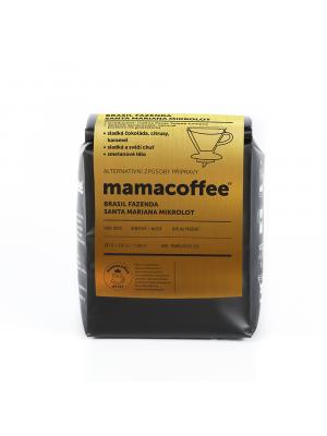 mamacoffee Brasil fazenda Santa Mariana mikrolot 2020 250g - sladká a svěží chuť sladké čokolády, citrusů karamelu
