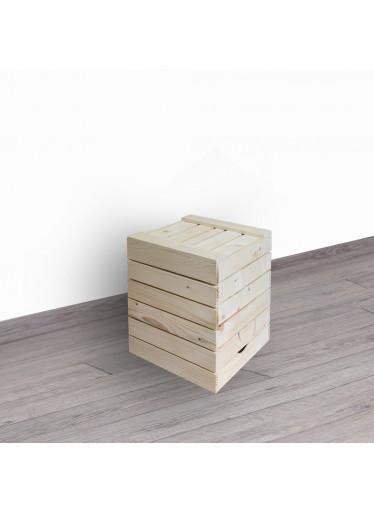 ČistéDřevo Dřevěná bedýnka sedák 30x35x30 cm