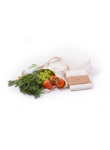 Casa Organica Plátěná nákupní taška - z nebělené biobavlny