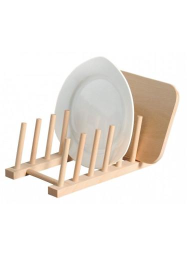 Kesper Dřevěný stojan na 6 talířů