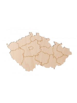 ČistéDřevo Dřevěná mapa České republiky
