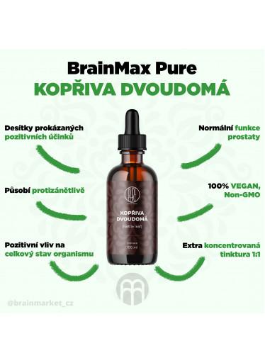 BrainMax Pure Kopřiva dvoudomá (Nettle leaf) tinktura, 100 ml