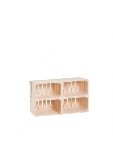 ČistéDřevo Dřevěné bedýnky botník 44 x 80 x 30 cm