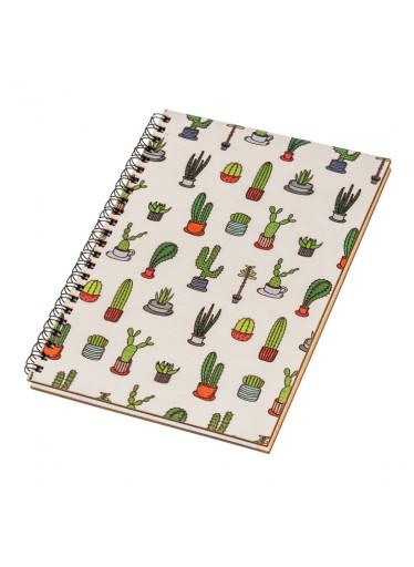ČistéDřevo Dřevěný blok A5 - kaktusy