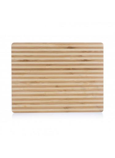 ČistéDřevo Dřevěné bambusové prkénko 33 x 25 cm - tenké pruhy