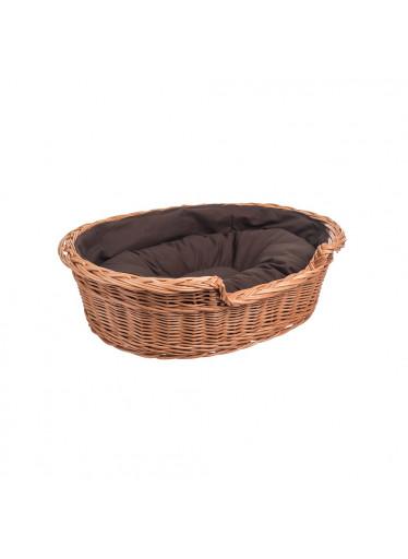 ČistéDřevo Proutěný pelíšek pro psa s poduškou - malý