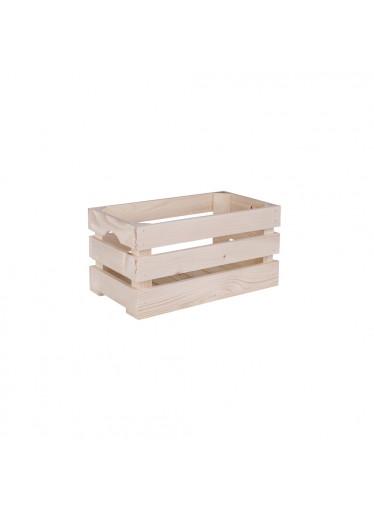 ČistéDřevo Dřevěná bedýnka 40 x 22 x 20 cm
