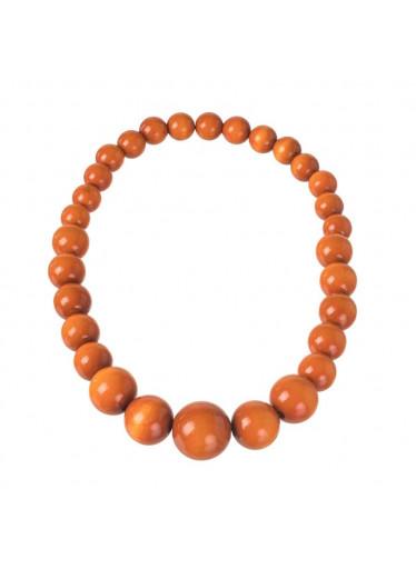 ČistéDřevo Dřevěný náhrdelník - oranžový