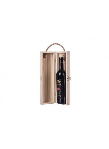 ČistéDřevo Dřevěná truhla na víno osmihran