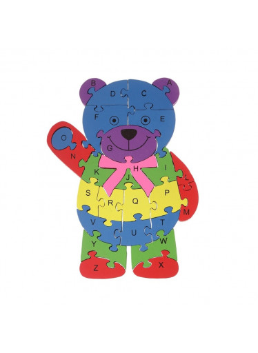 ČistéDřevo Dřevěné puzzle medvěd