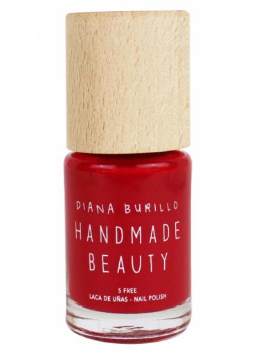 Handmade Beauty Lak na nehty 7-free (11 ml) - Cherry - s dřevěným uzávěrem