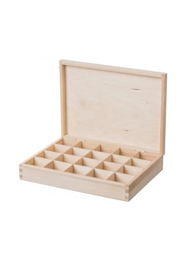 ČistéDřevo Dřevěná krabička (20 přihrádek)