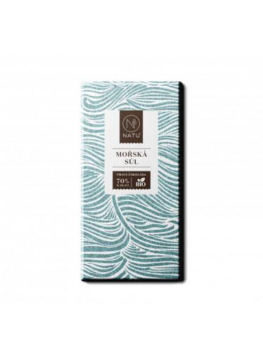 NATU Hořká čokoláda Mořská sůl BIO 45 g
