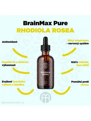 BrainMax Pure Rhodiola Rosea, tinktura, 100 ml