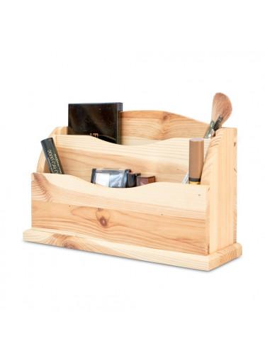 ČistéDřevo Dřevěný organizér 27x8x16,5 cm - přírodní