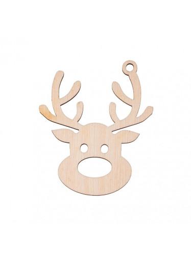 ČistéDřevo Dřevěná vánoční ozdoba - sob I