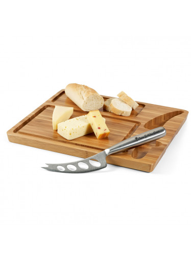 ČistéDřevo Bambusové prkénko na sýr s nožem