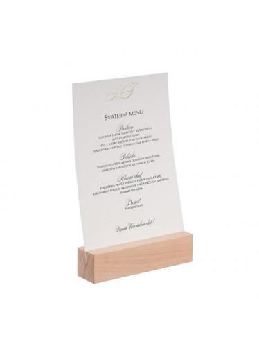 ČistéDřevo Dřevěný stojan na menu A4 I