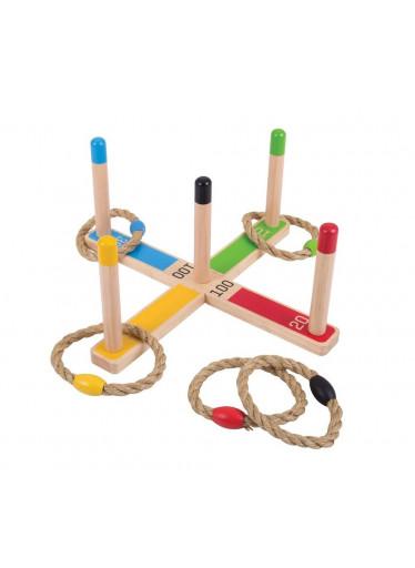 Bigjigs Dřevěná hra - Kroužky