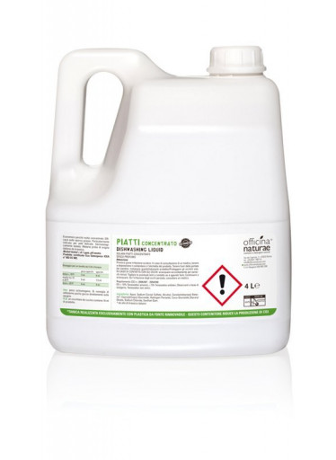 Officina Naturae Extra koncentrovaný gel na nádobí - bez parfemace (4 l) - úsporný díky vysoké koncentraci
