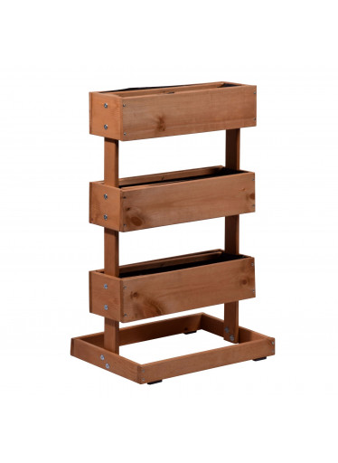 ČistéDřevo 3-patrový dřevěný květináč