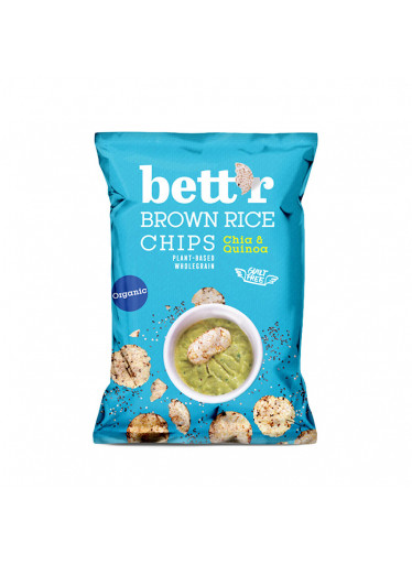 Bett'r Rýžové chipsy chia & quinoa BIO 60g
