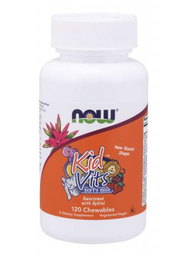NOW® Foods NOW Kid Vits, Berry blast, Multivitamín pro děti, 120 žvýkacích pastilek