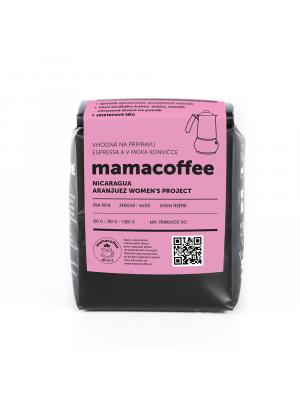 mamacoffee zrnková káva Nikaragua Women´s Project Aranjuez 2021 250g - sladké kakao, anýz, mandle, citrusová živost na pozadí