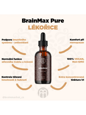 BrainMax Pure Lékořice, tinktura, 100 ml