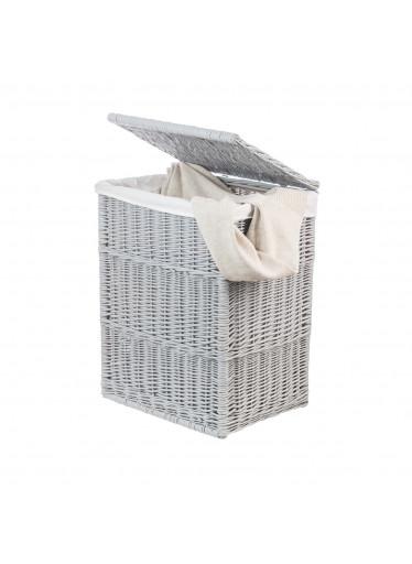 ČistéDřevo Proutěný koš na prádlo šedý