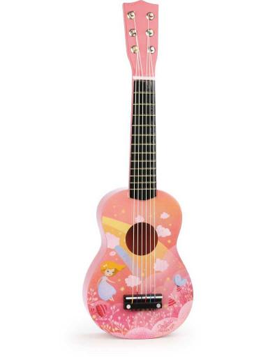Vilac Dřevěná kytara růžová rainbow