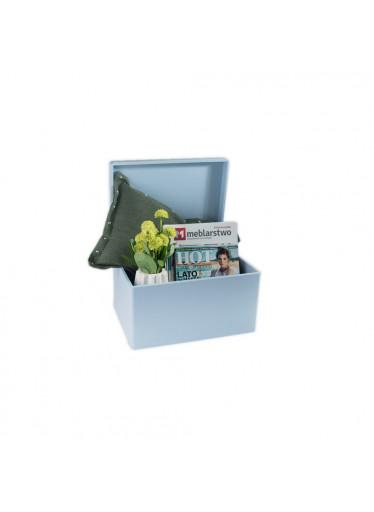 ČistéDřevo Dřevěný box bez úchytů 40cm x 30cm x 23cm - světle modrý