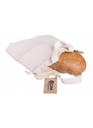 Casa Organica Taška na chleba - z biobavlny, s utahovací šňůrkou