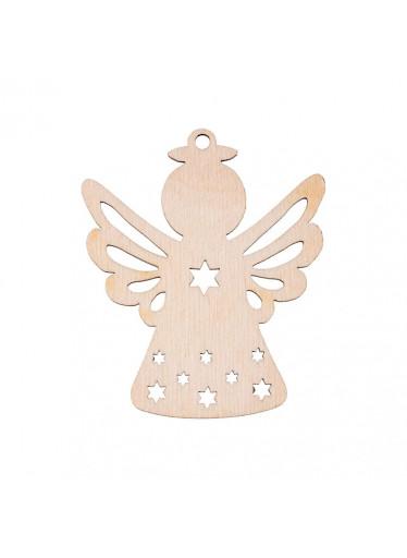 ČistéDřevo Dřevěná vánoční ozdoba - andílek I