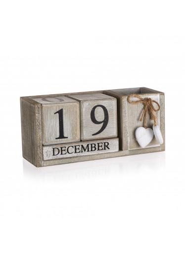ČistéDřevo Dřevěný kalendář - SOLID HEART