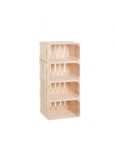 ČistéDřevo Dřevěné bedýnky regál 88 x 40 x 30 cm