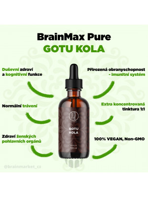 BrainMax Pure Gotu Kola tinktura, 100 ml