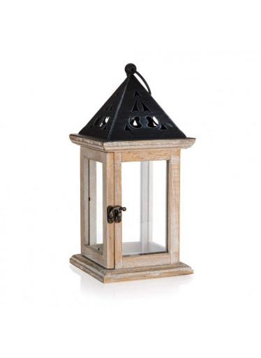ČistéDřevo Dřevěná lucerna 13 x 30 x 13 cm