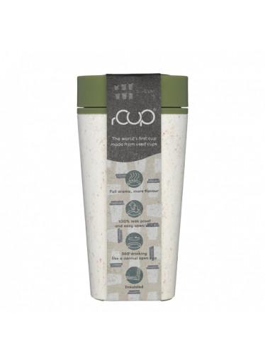 rCUP (340 ml) - krémová/zelená - z jednorázových papírových kelímků