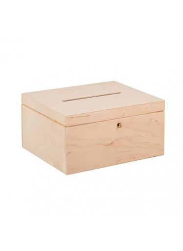 ČistéDřevo Dřevěný box na svatební přání na klíč